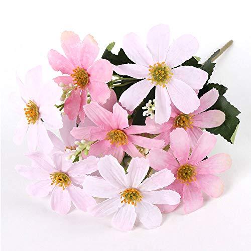 Gulin Kunstblume Für Die Dekoration 5 Stiele 10 Köpfe Künstliche Coreopsis Blume Simulation Kirschblüten Europäische Seidenblumen Mit 10 Köpfen Handmade Hotel - Kopf-tisch-mittelstücke