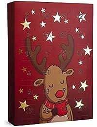 """SIX """"Weihnachten"""" Schmuck Adventskalender Elch Rentier 24 Geschenke Überraschungen Adventszeit XMAS Ohrringe Ketten Ringe Armbänder"""