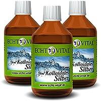 Echt Vital Kolloidales Silber 10 ppm - 3 Flaschen mit je 250 ml - Reinst-Silber (Reinheitsstufe 99,99%) preisvergleich bei billige-tabletten.eu