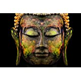 Buddha Poster Art - Digital Print Wall Posters Art Panel Like Hand Paintings | Home Interior Wall Décor Photo Gifts & Decorative Paintings For Bedroom, Living Room, Drawing, Dining Room, Kitchen, Office, Reception, Bathroom, Outdoor, Gallery, H