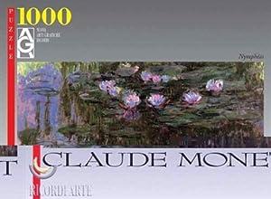 Editions Ricordi 0802N14741-Black Monet Water Lilies Puzzle de 1000Piezas