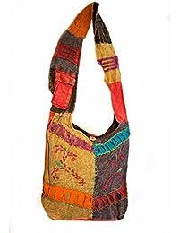 Boho Bohemian Crossbody Bag - Hippie Shoulder Bag Purse for Women – Cotton – Handmade in India