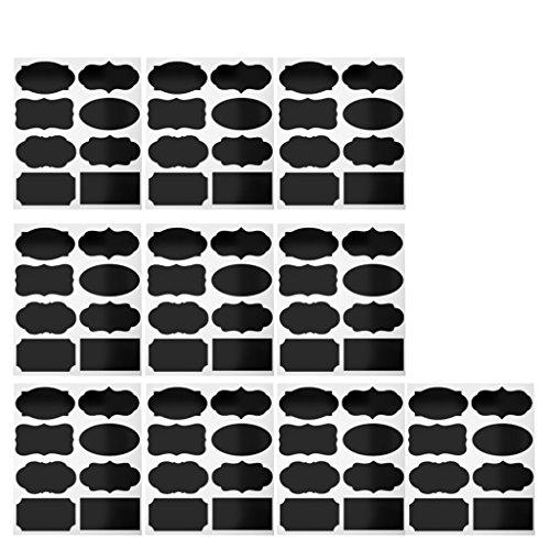Baoblaze 80er Pack Tafel Aufkleber Sticker Handwerk Küche Glas Etiketten Kitchen Labels - Farbe 1, 10.5x14.5x0.1cm - Mason-gläser Korb