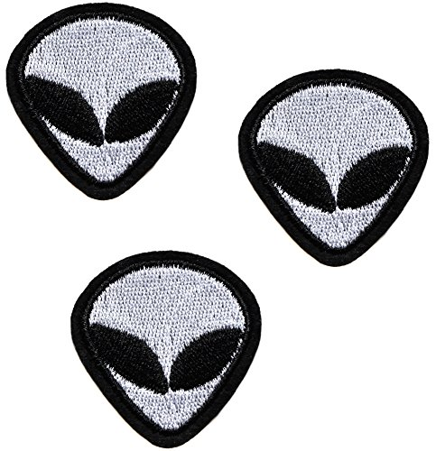 Alien ecusson Peace I Come In Peace lot de 3 Symbol I'm Different Patch 4,5x4cm Thermocollants