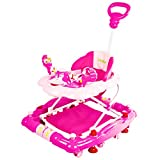 #9: Baybee Cheezy Walker cum Rocker | Music & Light Function With 3 Position Height Adjustable with Control Push Bar (Pink)