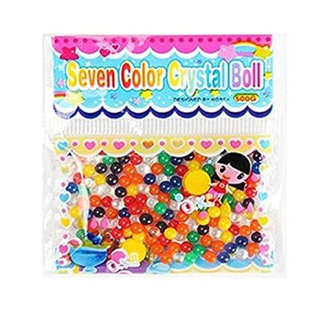 Perles d'eau, Chickwin 20 Sacs Crystal Soil Water Beads Bubble Big Beads Magic Jelly Balls pour fleur / plante / Décoration de marriage (Couleur Mélangée 20pcs)