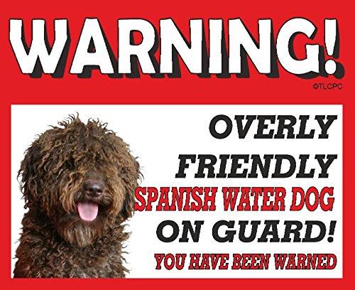 spagnolo Water spagnolo (marrone) Guard Dog metal Sign