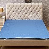 "Bedding King Waterproof Double Bed Microfiber Mattress Protector (72""X78-inch, Sky Blue)"