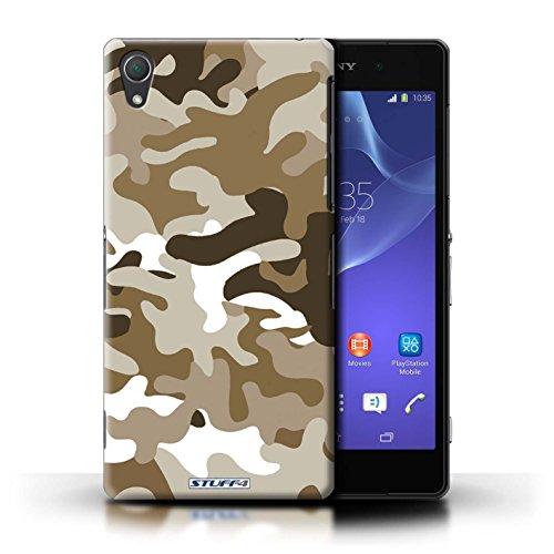 Kobalt® Imprimé Etui / Coque pour Sony Xperia Z2 / Bleue 4 conception / Série Armée/Camouflage Marron 1