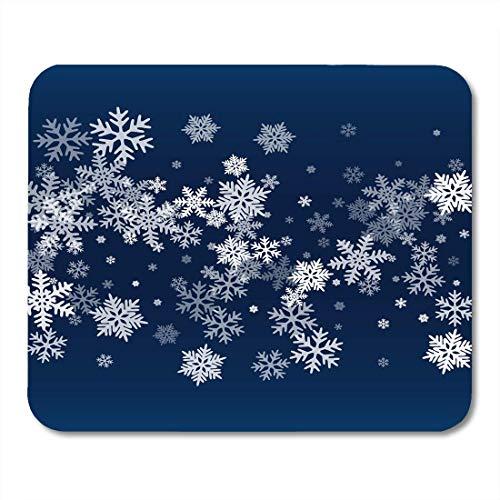 Luancrop Mauspads Schneeflocken Fallen Winter Schneeflocke Makro Wasser Einfrieren Teile Konfetti Chaotisch Streuung Kaltes Wetter Mauspad für Notebooks, Desktop-Computer Bürobedarf (Einfrieren Wasser)