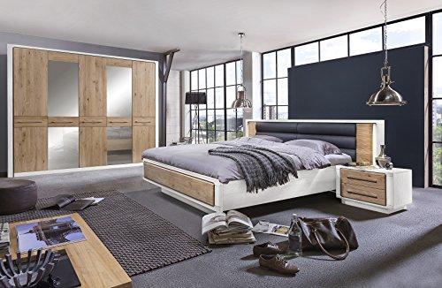 Telmex 50EWLBS2 Schlafzimmer Set Elba, Kleiderschrank ...