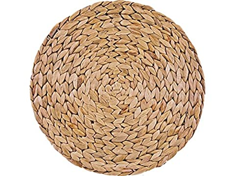 Creative Tops Natural Water Hyacinth Weave Placemats Tablemats, Set of
