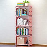 HUANGMENG Book Rack Children Bookshelf Storage Shelve Book Rack Bookcase for Home Furniture(Pink)
