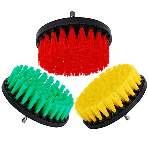 OxoxO HSS-Bürste - 5 inch Power Drill Attachment Medium Duty Scrubbing Stiffness Scrub Cleaning Brush for Cleaning Bathroom Surfaces Tile Grout Showers - Hss Combined Drill