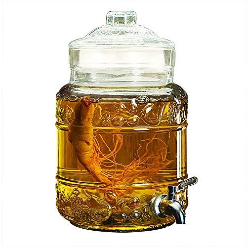 KTYXDE Mason Jar Vaso de Vino dispensador Leche Cerveza café Bebida Familiar Bar Fiesta Agua dispensador 3.5L / 5L / 10L Dispensador de Bebidas (Color : 3.5L, Tamaño : Stainless Steel Spigot)