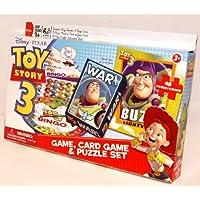 3en 1divertido juego Toy Story 3tarjeta de Bingo juego, juego & Puzzle Set