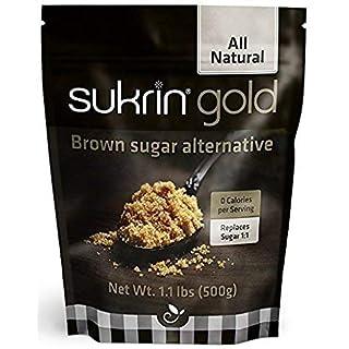 Sukrin Gold All Natural Stevia Sweetener Brown Sugar Alternative 500 g (Pack of 2)