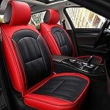 DaFei Fundas para Asientos De Automóvil, Juego Completo De 5 Asientos Airbags Compatibles Delanteros Y Traseros Respaldo Transpirable Protector De Cuero Protector (Color : Rojo)