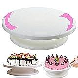 #8: One Stop Shop Plastic Cake Decorating Revolving Turntable, 28cm, White