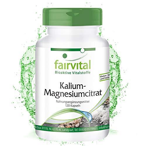 Kalium Magnesium Citrat Kapseln- VEGAN - 120 Kapseln - hochdosiert - Citrat 120 Kapseln