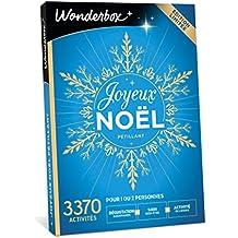 Wonderbox - Coffret cadeau JOYEUX NOËL Pétillant – 3370 activités soin et bien-être, dégustations gourmandes ou loisirs pour 1 ou 2 personnes