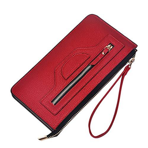 Bfmyxgs Stilvolle Handtasche für Frauen Mädchen Lange Geldbörsen Mode Reißverschluss Geldbörse Clutch Geld Geldbörse Geldbörse Geldbörse Handtasche Handytasche Clutch Bag