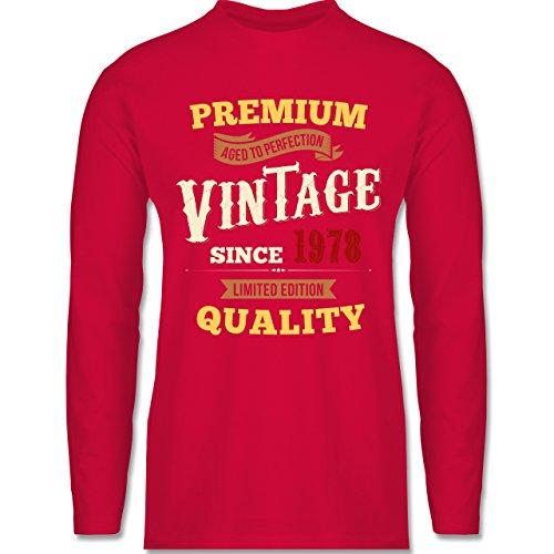 Shirtracer Geburtstag - 40. Geburtstag Vintage 1978 - Herren Langarmshirt Rot