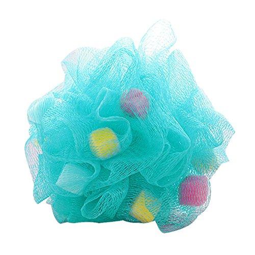 Meisijia Bunte Badezimmer-Körper-Mop Blumen-Kugel-Dusche-Weichen Schwamm Bubbles Körper Reinigung Waschen Schäumende Ineinander Greifen-Netz Luffa(zufällige Farbe) (Sanft Schäumende Waschen)