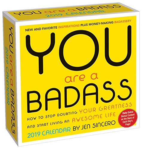 You are a Badass 2019 Day-to-Day Calendar - Desktop-kalender-easel