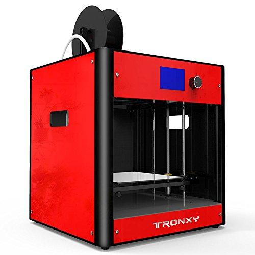 Hohe Präzision Gebaut 3D Drucker Metallrahmen Desktop 3D-Maschine, Unterstützung Multi-Filament FDM Professional 3D Drucker, maximale Druckgröße: 210 * 210 * 210mm (Rote) - 3