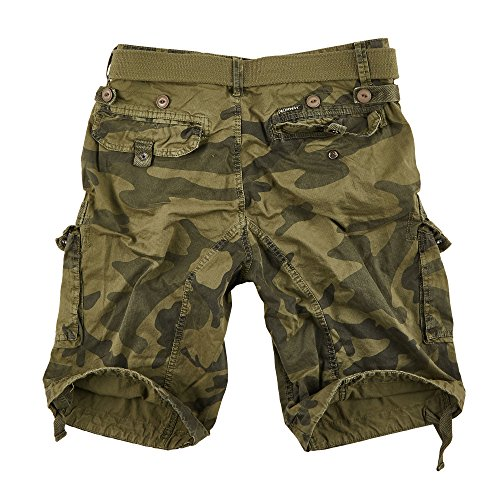 Geographical Norway Herren Cargo Short People Kaki Camo