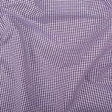 Vichy-Karo Baumwolle 2 mm - Lila-Weiss - 140 cm breit