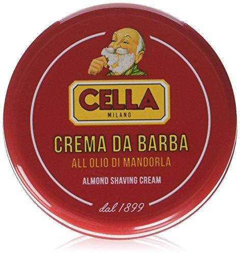 Classic Italian Cella Shave Shaving Creme Soap-150g-Hard Plastic Travel Container by Cella