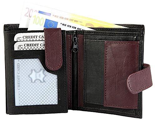 Monopol Herren Geldbörse aus Echtleder, 9 x 11 cm