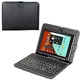 Navitech 9 Zoll Schwarz bycast Leder Stand mit deutschem Qwertz Keyboard mit Micro USB für das Medion Lifetab P8912 (MD 99066) 22,6 cm/8,9Zoll Tablet-PC wie bei ALDI