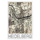 artboxONE Poster 60x40 cm Städte Retro Map Heidelberg