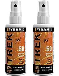 Pyramid 55 - Repelente para mosquitos e insectos, 2 Bottles, 60 ml