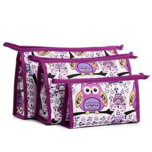 Fami 3pcs Cosmetic toeletta viaggio Lavare i corredi di trucco Bag Set (Strumenti Di Cucina Caso Del Pacchetto)
