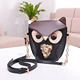 Color Scissor Womens Vintage Owl Crossbody Shoulder Bag Satchel Handbag