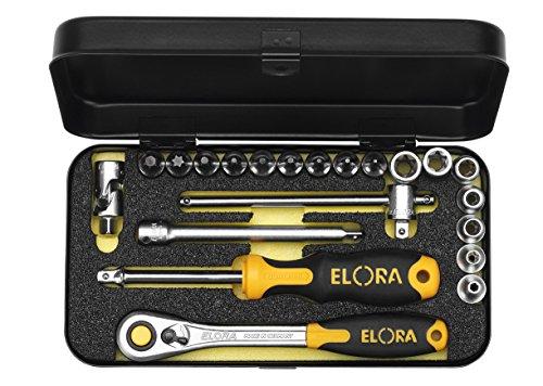 Elora 1430505302000 - Set di chiavi da 1/4 di pollice, 21 parti, 1430-xeu, - 1430 Car