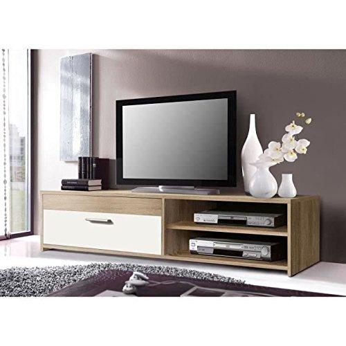 KATSO Meuble TV 120 cm coloris chene/blanc