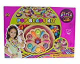 Style-Carry Filles Snap Pop Perles Jouets - Art Crafts Cadeau DIY Jewelry Making Kit pour Collier et Bracelet pour Filles Jouet Cadeau de Noël (Beautiful Jewelry) (128 PC)