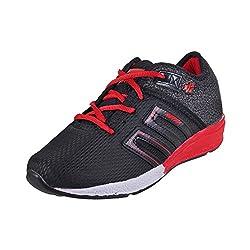 Walkway Men Black/RED Synthetic Walking Shoes (Size EURO42/UK8) (252-9413-67-42)
