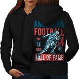 américain Football sport Femme Sweat à capuche le dos | Wellcoda