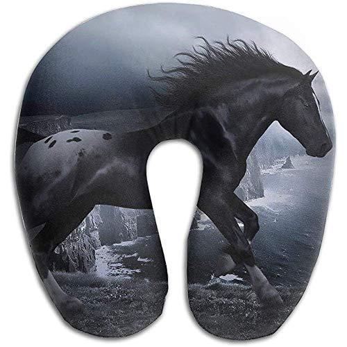 Gaske pillows U-förmiges Nackenkissen Schulter Körperpflege Cool Black Horse Health Weiches U-Kissen für den Heimreiseflug Unisex Unterstützendes Schlafen