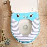 Wmshpeds Cartoon Toilette gepolsterter Komfort Plüsch Toilette Sitzkissen Toilette weich und schön Tierkissen WC 2-Pack