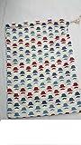 Patterned Cotton Drawstring Bags, Bowler Hat 25cm x 35cm, SECONDS***