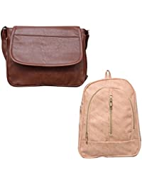 Stalkers Premium Designer Women Sling Bag And Backpack Combo(Combo)