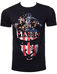 Official T Shirt MARILYN MANSON Burning CROWN Flag M