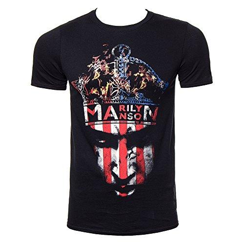 T Shirt Marilyn Manson Crown (Nero) - Medium